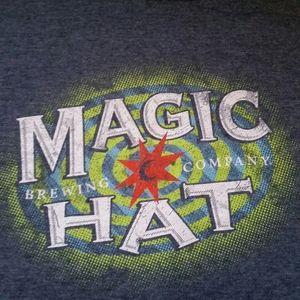 Magic Hat Men Large Gray Beer Short Sleeve T Shirt